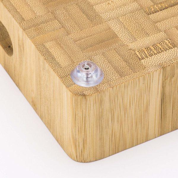Bamboo Butcher Block Cutting Board Rubber Feet