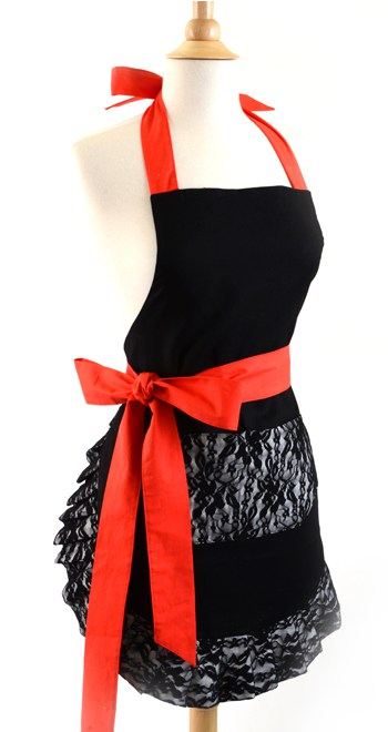 Black-Lace-Red-Bow-Apron