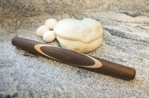 Black Walnut with Sugar Maple Celtic Knot French Style Rolling Pin Dough with Eggs-2