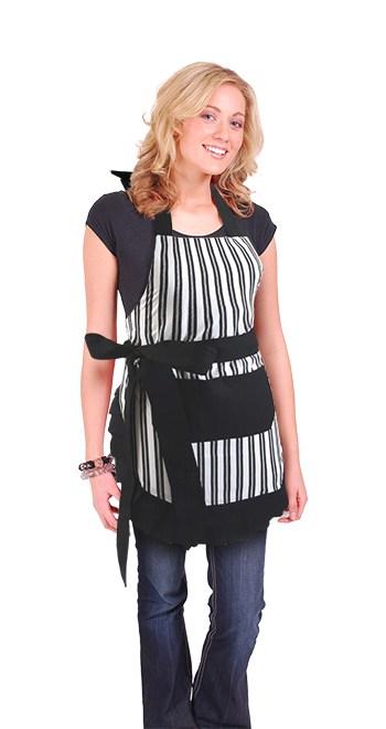 Black-White-Vertical-Stripe-Apron_Model