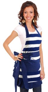 Blue-White-Striped-Apron-Model