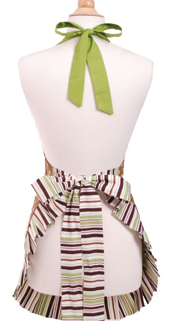 Brown-Green-Polka-Dot-Apron-Back