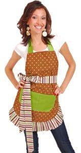 Brown-Green-Polka-Dot-Apron-Model