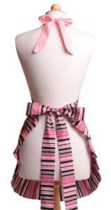 Brown-Pink-Polka-Dot-Striped-Ruffle-Apron-Back