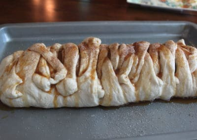 Caramel Apple Cinnamon Braid Dough Side