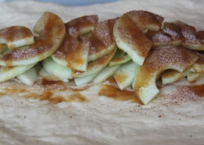 Caramel Apple Cinnamon Braid Ingredients Close