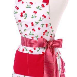 red-cherry-pattern-striped-fringe-ruffles-apron