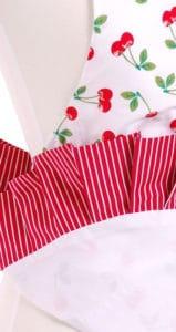 red-cherry-pattern-striped-fringe-ruffles-apron-back-close