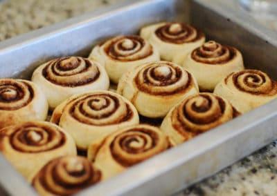 Cinnamon Rolls In Pan