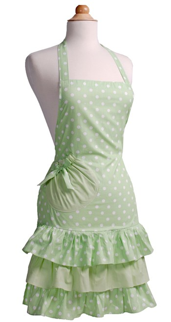 Green-Polka-Dot-Ruffle-Apron