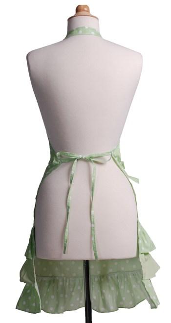 Green-Polka-Dot-Ruffle-Apron-Back