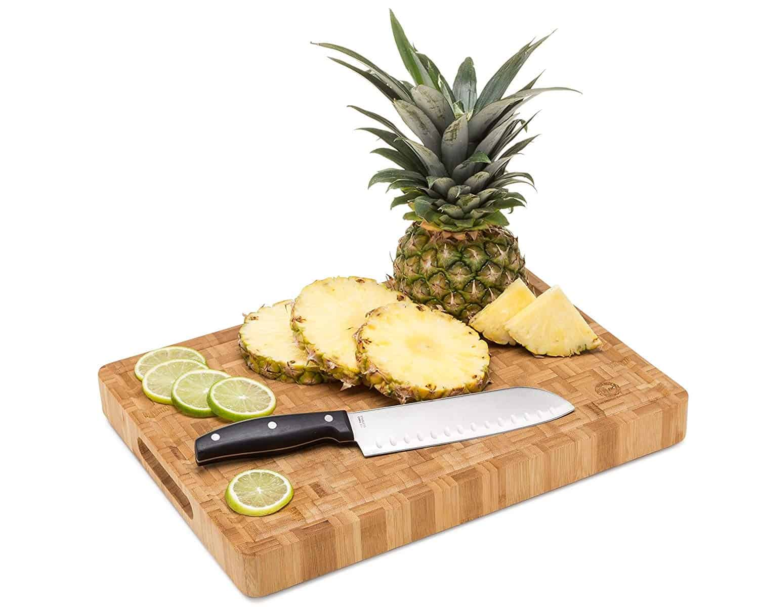 Large Bamboo Butcher Block Cutting Board With Pinele