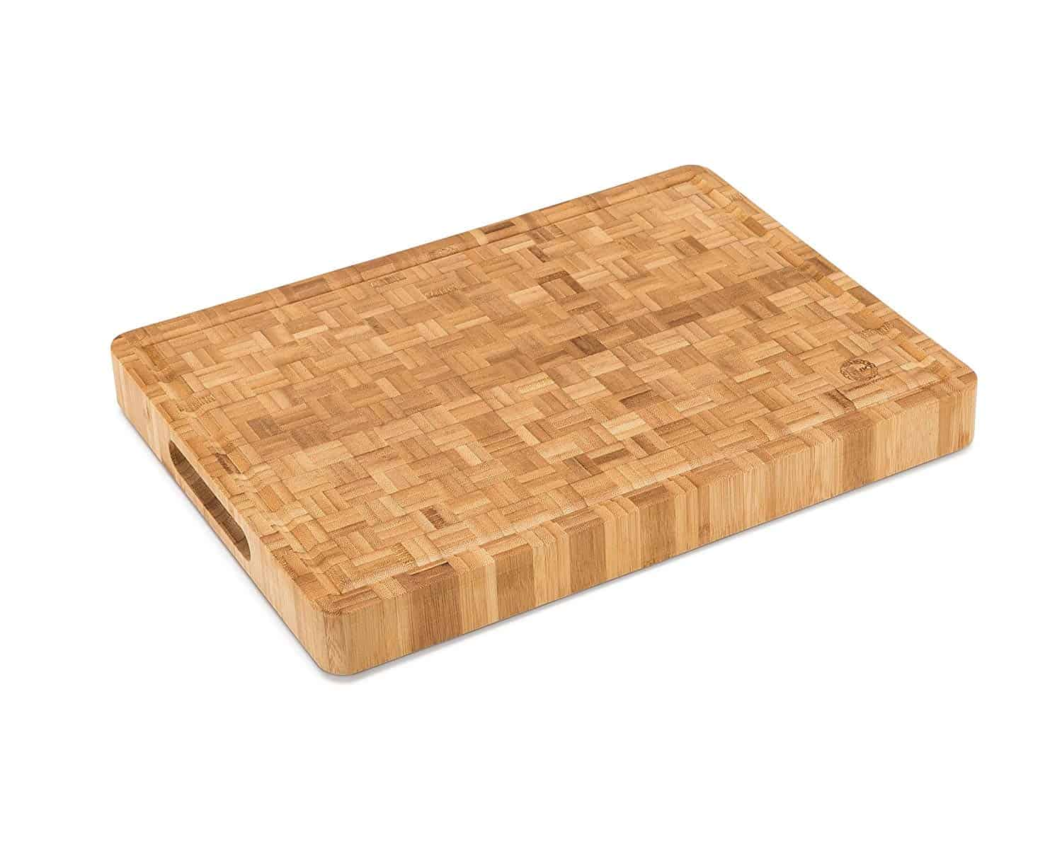 Large End Grain Bamboo Cutting Board Butcher Block By Top