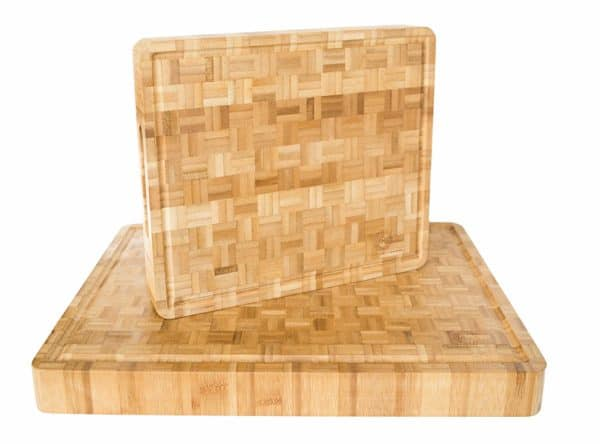 Large and Small Bamboo Butcher Block Set