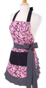 Pink-Black-Swirls-Woman-Apron