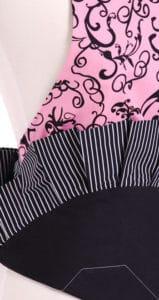 Pink-Black-Swirls-Woman-Apron-Close