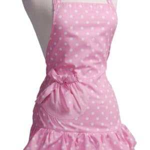 Pink-Polka-Dot-Ruffle-Apron