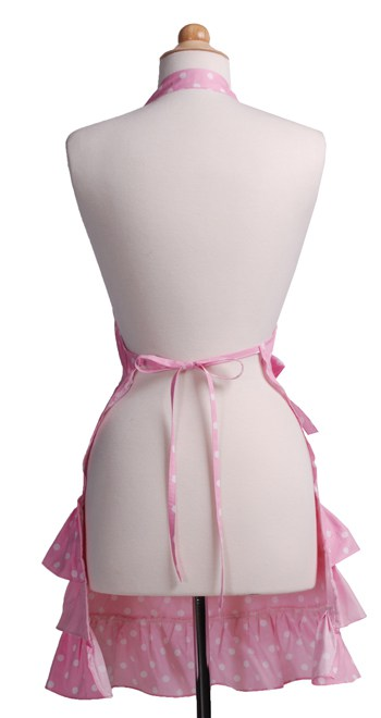 Pink-Polka-Dot-Ruffle-Apron-Back