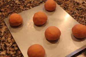 Pumpkin Bread Bowls-Dough Balls