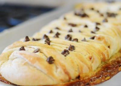 Smore Bread Braid Recipe Close Up