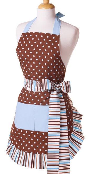 brown-sky-blue-polka-dot-apron