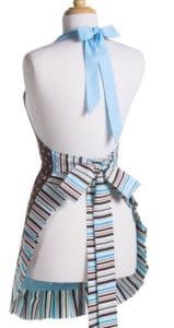 brown-sky-blue-polka-dot-apron-back