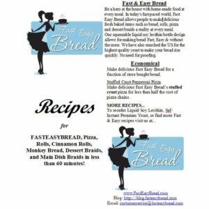 Fast Easy Bread Recipe Brochure